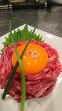 Wagyu beef steak tartare