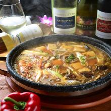 Mapo tuna and seafood