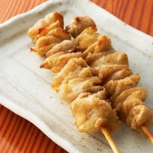 Chicken skin skewer