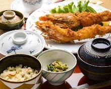 Shrimp tempura meal set