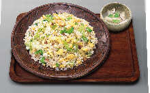 Lettuce fried rice