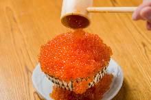 Salmon roe rice bowl