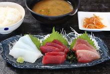 Sashimi meal set of the day