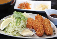 Deep fried oysters set meal