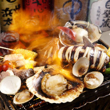 Assorted seafood grill, 5 kinds