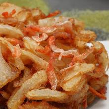 Mixed tempura of sakura shrimp