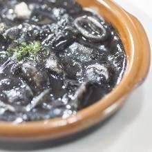 Squid ink stew