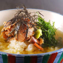 Tai chazuke (sea bream and rice with tea)