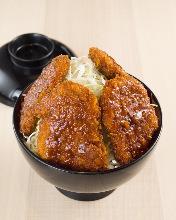 Pork cutlet rice bowl