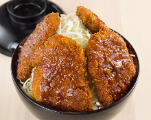 Pork cutlet rice bowl