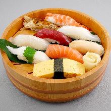 Assorted nigiri sushi, 9 kinds