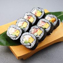 Crab sushi rolls