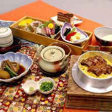 Eel kamameshi (pot rice) meal set