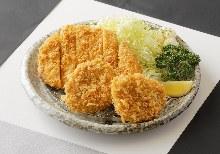 Premium fillet and sirloin cutlet set meal