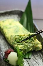 Laver seaweed Japanese omelet