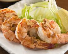 Shrimp teppan-yaki