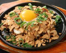 Garlic okonomiyaki