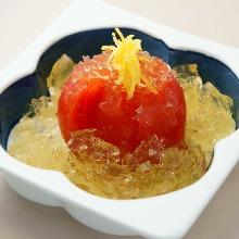 出汁トマト ジュレ掛け