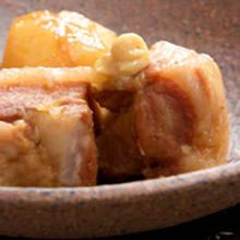 Simmered pork belly