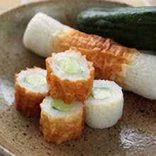 Tube-shaped fish-paste cake (a type of oden)