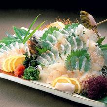Live olive flounder sashimi