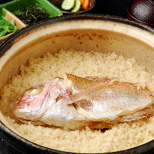 Minced sea bream and rice