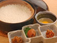 Donabe Gohan(rice in an earthen pot)