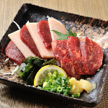Assorted edible horse meat, 3 kinds