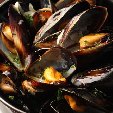 Grilled mussels in overn