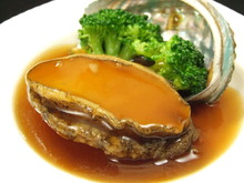 Simmered whole abalone