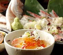 Sashimi and rice