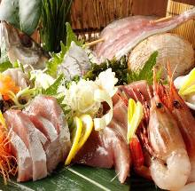 Assorted sashimi of the day, 7 kinds
