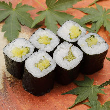 Pickled vegetable sushi rolls