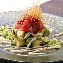 Tuna and avocado tartare