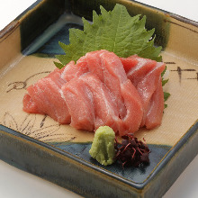 Very fatty bluefin tuna sashimi