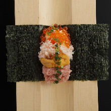 Hand rolled sushi