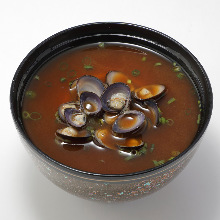 Seafood red miso soup