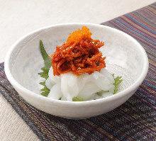 Squid kimchi