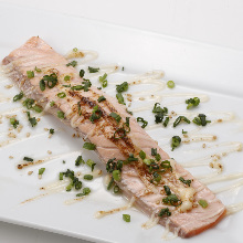 Seared fatty salmon
