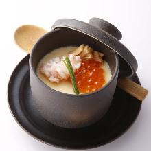 Seafood chawanmushi (steamed egg custard)