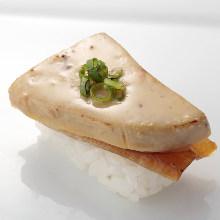 Foie gras sushi