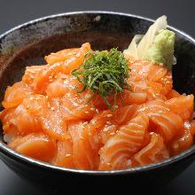 Marinade seafood rice bowl