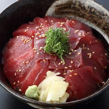 """Tekka"" raw tuna rice bowl"