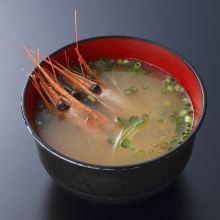 Shrimp miso soup