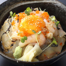 Seafood rice bowl