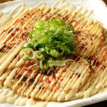 Grilled potatoes with mayonnaise and mentaiko