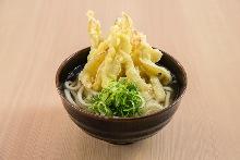 Burdock tempura udon soup