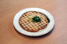 Grilled fish paste tempura