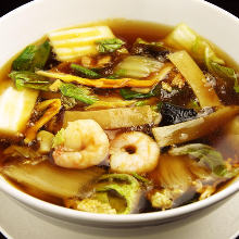 Gomoku noodles with soup