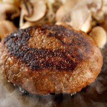 Wagyu beef hamburger steak